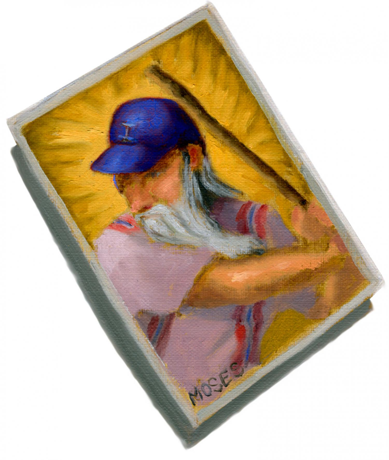 The Baseball Playing Moses. Passover Haggadah. Seder